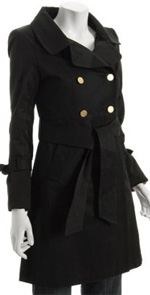 elie-tahari, elie tahari, coat, trench coat, fashion, black trench coat