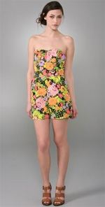 shoshanna, romper, fashion, style, trend, spring trend, floral romper
