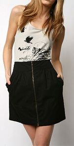silence1, Silence & Noise, skirt, miniskirt, zipper skirt, fashion, style