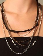 free people, necklace, trend, mixed chain necklace, jewelry