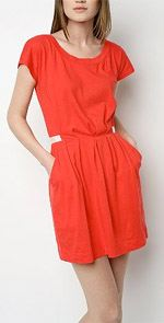 silence, silence & Noise, dress, tunic, orange dress