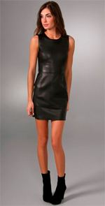 rag and bone, dress, leather dress, fashion, style