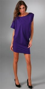 diane von furstenberg, dress, purple dress, tunic dress