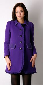 sonia by sonia rykiel, pea coat, purple pea coat