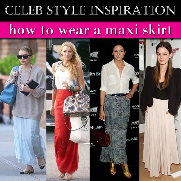 Celeb Style Inspiration: How to Wear a Maxi Skirt post image