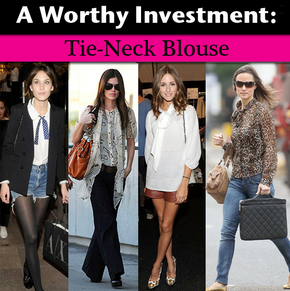 A Worthy Investment: Tie-Neck Blouse post image