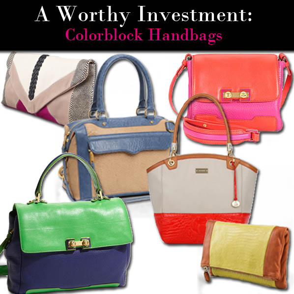 A Worthy Investment: Colorblock Handbags post image