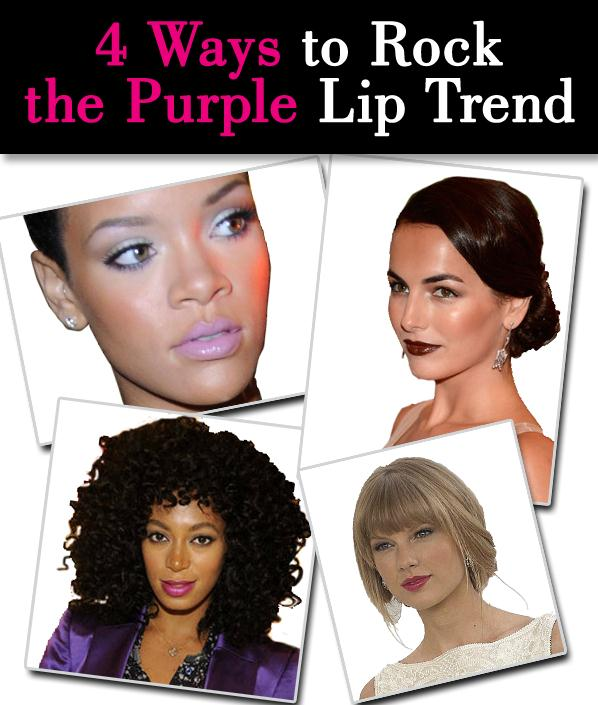 Four Ways to Rock the Purple Lip Trend post image