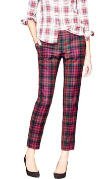 Cafe capri in red tartan
