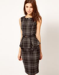 asos warehouse tartan dress