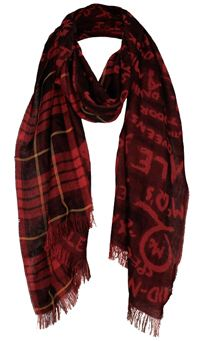 mcq-tartanjaq-scarf-red