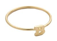 Alphabet Letter Initial Waif Ring