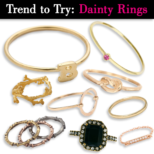 Trend to try: Tiny, Dainty Rings post image
