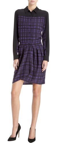 barneys plaid shirtdress