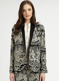 haute hippie embroidered silk jacket