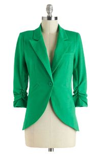 Fine and Sandy Blazer in Grass