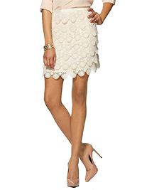 Scalloped Lace Skirt