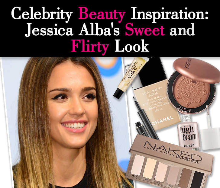 Celebrity Beauty Inspiration: Jessica Alba's Sweet and Flirty Look post image