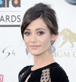 wedding hair emmy rossum