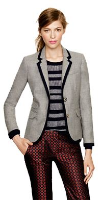 Schoolboy blazer in tipped wool