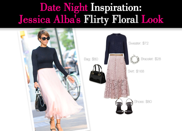 Date Night Inspiration: Jessica Alba's Flirty Floral Look post image