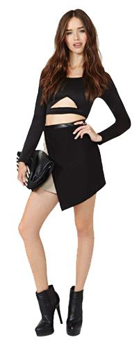 Nasty Gal Razor Sharp Skirt