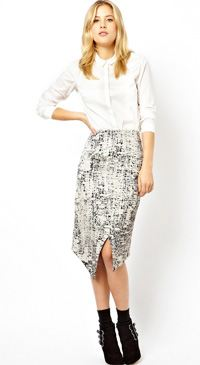 asos abstract skirt