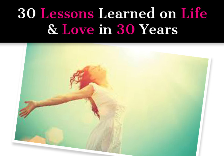 30 Lessons Learned On Life & Love in 30 Years post image